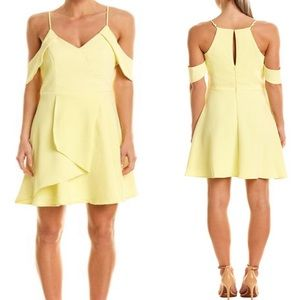 ANTHROPOLOGIE ADELYN RAE Yellow A Line Dress